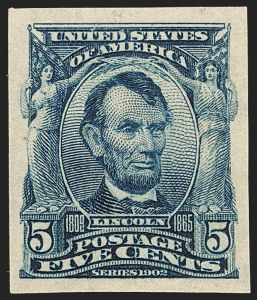 Sale Number 1192, Lot Number 401, 1902-08 Issues (Scott 300-320)5c Blue, Imperforate (315), 5c Blue, Imperforate (315)