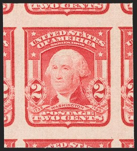 Sale Number 1192, Lot Number 407, 1902-08 Issues (Scott 300-320)2c Scarlet, Ty. I, Imperforate (320b), 2c Scarlet, Ty. I, Imperforate (320b)
