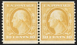Sale Number 1192, Lot Number 432, 1908-10 Washington-Franklin Issues (Scott 331-356)10c Yellow, Coil (356), 10c Yellow, Coil (356)