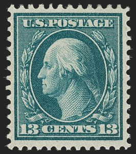 Sale Number 1192, Lot Number 445, 1909 Bluish Paper Issue (Scott 357-366)13c Bluish Green, Bluish (365), 13c Bluish Green, Bluish (365)