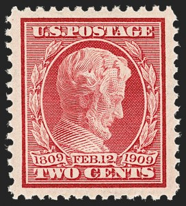 Sale Number 1192, Lot Number 450, 1909 Bluish Paper Issue (Scott 357-366)2c Lincoln (367), 2c Lincoln (367)