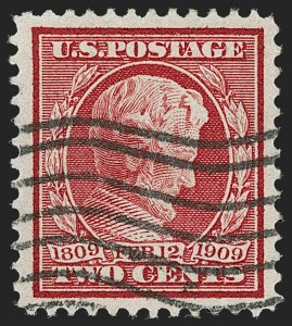 Sale Number 1192, Lot Number 453, 1909 Bluish Paper Issue (Scott 357-366)2c Lincoln, Bluish (369), 2c Lincoln, Bluish (369)