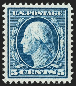 Sale Number 1192, Lot Number 455, 1910-13 Washington-Franklin Issue (Scott 374-396)5c Blue (378), 5c Blue (378)