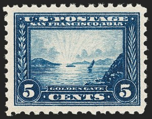 Sale Number 1192, Lot Number 475, 1913-15 Panama-Pacific Issue (Scott 397-404)5c Panama-Pacific, Perf 10 (403), 5c Panama-Pacific, Perf 10 (403)