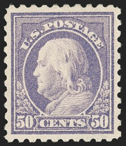 Sale Number 1192, Lot Number 494, 1913-15 Washington-Franklin Issues (Scott 424-461)50c Violet (440), 50c Violet (440)