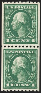 Sale Number 1192, Lot Number 496, 1913-15 Washington-Franklin Issues (Scott 424-461)1c Green, Coil (441), 1c Green, Coil (441)