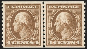 Sale Number 1192, Lot Number 504, 1913-15 Washington-Franklin Issues (Scott 424-461)4c Brown, Coil (446), 4c Brown, Coil (446)