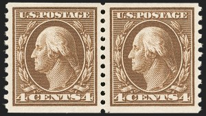 Sale Number 1192, Lot Number 505, 1913-15 Washington-Franklin Issues (Scott 424-461)4c Brown, Coil (446), 4c Brown, Coil (446)