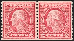 Sale Number 1192, Lot Number 515, 1913-15 Washington-Franklin Issues (Scott 424-461)2c Red, Ty. II, Coil (454), 2c Red, Ty. II, Coil (454)