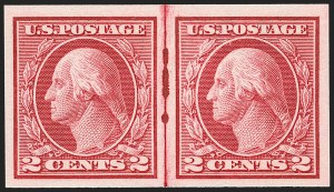Sale Number 1192, Lot Number 521, 1913-15 Washington-Franklin Issues (Scott 424-461)2c Carmine, Ty. I, Imperforate Coil (459), 2c Carmine, Ty. I, Imperforate Coil (459)