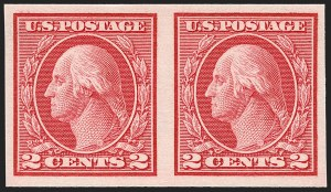 Sale Number 1192, Lot Number 522, 1913-15 Washington-Franklin Issues (Scott 424-461)2c Carmine, Ty. I, Imperforate Coil (459), 2c Carmine, Ty. I, Imperforate Coil (459)