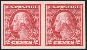 Sale Number 1192, Lot Number 523, 1913-15 Washington-Franklin Issues (Scott 424-461)2c Carmine, Ty. I, Imperforate Coil (459), 2c Carmine, Ty. I, Imperforate Coil (459)