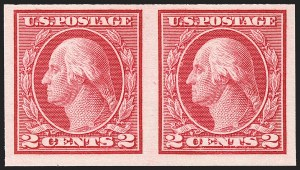 Sale Number 1192, Lot Number 524, 1913-15 Washington-Franklin Issues (Scott 424-461)2c Carmine, Ty. I, Imperforate Coil (459), 2c Carmine, Ty. I, Imperforate Coil (459)