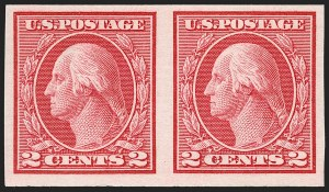 Sale Number 1192, Lot Number 525, 1913-15 Washington-Franklin Issues (Scott 424-461)2c Carmine, Ty. I, Imperforate Coil (459), 2c Carmine, Ty. I, Imperforate Coil (459)