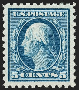 Sale Number 1192, Lot Number 529, 1916-17 Issues (Scott 462-480)5c Blue (466), 5c Blue (466)