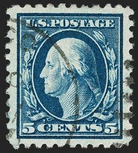 Sale Number 1192, Lot Number 530, 1916-17 Issues (Scott 462-480)5c Blue (466), 5c Blue (466)