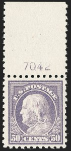 Sale Number 1192, Lot Number 539, 1916-17 Issues (Scott 462-480)50c Light Violet (477), 50c Light Violet (477)