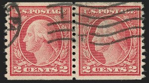 Sale Number 1192, Lot Number 545, 1917-19 Issues (Scott 481-524)2c Carmine, Ty. II, Coil (491), 2c Carmine, Ty. II, Coil (491)