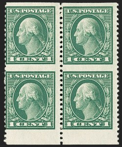 Sale Number 1192, Lot Number 546, 1917-19 Issues (Scott 481-524)1c Green, Vertical Pair, Imperforate Horizontally (498a), 1c Green, Vertical Pair, Imperforate Horizontally (498a)