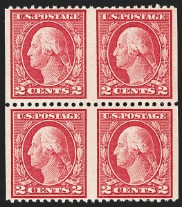 Sale Number 1192, Lot Number 549, 1917-19 Issues (Scott 481-524)2c Rose, Ty. I, Horizontal Pair, Imperforate Vertically (499b), 2c Rose, Ty. I, Horizontal Pair, Imperforate Vertically (499b)