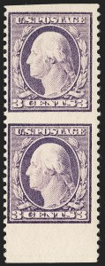 Sale Number 1192, Lot Number 555, 1917-19 Issues (Scott 481-524)3c Light Violet, Ty. I, Vertical Pair, Imperforate Horizontally (501c), 3c Light Violet, Ty. I, Vertical Pair, Imperforate Horizontally (501c)
