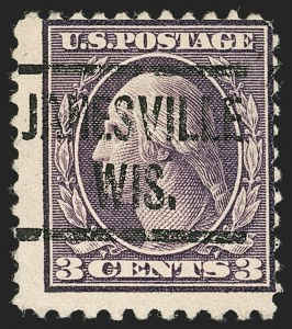 Sale Number 1192, Lot Number 556, 1917-19 Issues (Scott 481-524)3c Dark Violet, Ty. II, Perf 10 at Bottom (502e), 3c Dark Violet, Ty. II, Perf 10 at Bottom (502e)