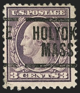 Sale Number 1192, Lot Number 557, 1917-19 Issues (Scott 481-524)3c Dark Violet, Ty. II, Perf 10 at Bottom (502e), 3c Dark Violet, Ty. II, Perf 10 at Bottom (502e)