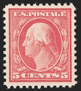 Sale Number 1192, Lot Number 567, 1917-19 Issues (Scott 481-524)5c Rose, Error (505), 5c Rose, Error (505)