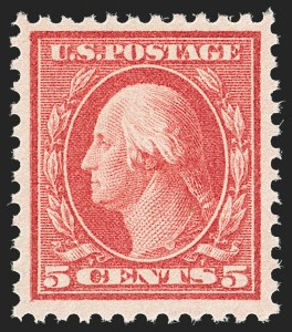 Sale Number 1192, Lot Number 568, 1917-19 Issues (Scott 481-524)5c Rose, Error (505), 5c Rose, Error (505)