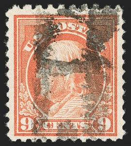 Sale Number 1192, Lot Number 573, 1917-19 Issues (Scott 481-524)9c Salmon Red, Perf 10 at Top (509a), 9c Salmon Red, Perf 10 at Top (509a)