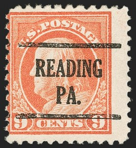 Sale Number 1192, Lot Number 574, 1917-19 Issues (Scott 481-524)9c Salmon Red, Perf 10 at Top (509a), 9c Salmon Red, Perf 10 at Top (509a)