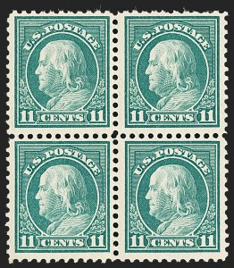 Sale Number 1192, Lot Number 575, 1917-19 Issues (Scott 481-524)11c Light Green, Perf 10 at Top (511a), 11c Light Green, Perf 10 at Top (511a)
