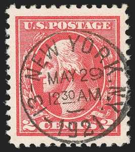 Sale Number 1192, Lot Number 590, 1918-22 Offset and Rotary Issues (Scott 525-550)2c Carmine, Ty. Va (528), 2c Carmine, Ty. Va (528)