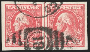 Sale Number 1192, Lot Number 592, 1918-22 Offset and Rotary Issues (Scott 525-550)2c Carmine, Ty. VII, Imperforate (534B), 2c Carmine, Ty. VII, Imperforate (534B)