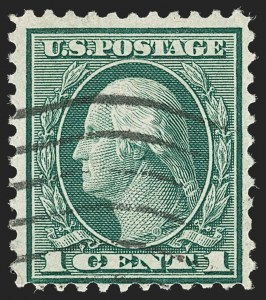 Sale Number 1192, Lot Number 598, 1918-22 Offset and Rotary Issues (Scott 525-550)1c Green, Rotary Perf 11 (544), 1c Green, Rotary Perf 11 (544)