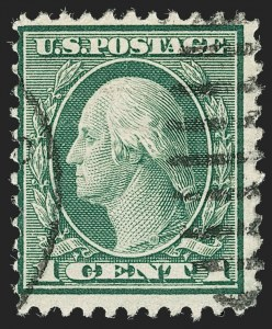 Sale Number 1192, Lot Number 599, 1918-22 Offset and Rotary Issues (Scott 525-550)1c Green, Rotary Perf 11 (544), 1c Green, Rotary Perf 11 (544)
