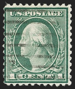 Sale Number 1192, Lot Number 600, 1918-22 Offset and Rotary Issues (Scott 525-550)1c Green, Rotary Perf 11 (544), 1c Green, Rotary Perf 11 (544)