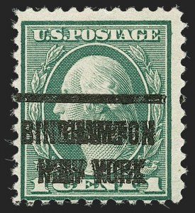 Sale Number 1192, Lot Number 601, 1918-22 Offset and Rotary Issues (Scott 525-550)1c Green, Rotary Perf 11 (544), 1c Green, Rotary Perf 11 (544)