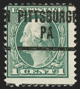 Sale Number 1192, Lot Number 602, 1918-22 Offset and Rotary Issues (Scott 525-550)1c Green, Rotary Perf 11 (544), 1c Green, Rotary Perf 11 (544)