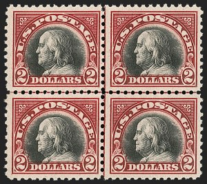 Sale Number 1192, Lot Number 605, 1918-22 Offset and Rotary Issues (Scott 525-550)$5.00 Lake & Black (547a), $5.00 Lake & Black (547a)