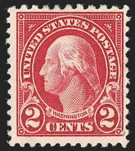 Sale Number 1192, Lot Number 607, 1922-29 Issues (Scott 551-621)2c Carmine, Perf 10 at Top (554d), 2c Carmine, Perf 10 at Top (554d)