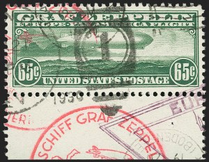 Sale Number 1192, Lot Number 670, Air Post, Graf Zeppelin Issue (Scott C13-C15)65c Graf Zeppelin (C13), 65c Graf Zeppelin (C13)