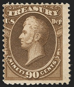 Sale Number 1192, Lot Number 738, Officials90c Treasury, Soft Paper (O113), 90c Treasury, Soft Paper (O113)