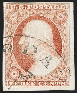 Sale Number 1192, Lot Number 82, 1851-56 Issue (Scott 5-17)3c Dull Red, Ty. II (11A), 3c Dull Red, Ty. II (11A)