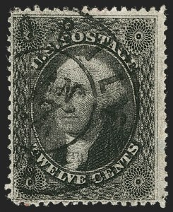Sale Number 1192, Lot Number 847, Confederate States: Independent and CSA use of US Postage12c Black, Plate 3 (36B), 12c Black, Plate 3 (36B)