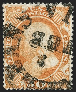 Sale Number 1192, Lot Number 848, Confederate States: Independent and CSA use of US Postage30c Orange (38), 30c Orange (38)