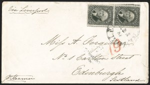 Sale Number 1192, Lot Number 850, Confederate States: Independent and CSA use of US Postage12c Black (36), 12c Black (36)