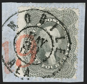 Sale Number 1192, Lot Number 861, Confederate States: Independent and CSA use of US Postage24c Gray Lilac (37), 24c Gray Lilac (37)
