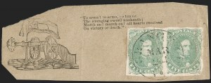 Sale Number 1192, Lot Number 887, Confederate States: General Issues off-Cover5c Green, Stone 1-2 (1), 5c Green, Stone 1-2 (1)