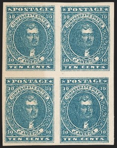 Sale Number 1192, Lot Number 891, Confederate States: General Issues off-Cover10c Dark Blue, Hoyer & Ludwig (2b), 10c Dark Blue, Hoyer & Ludwig (2b)